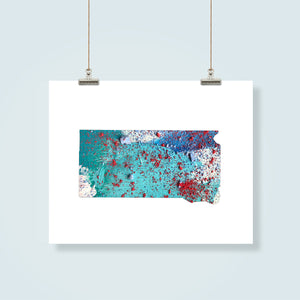 SOUTH DAKOTA State Map - Abstract City Map Art by Carland Cartography