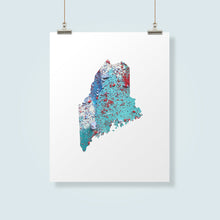 Load image into Gallery viewer, MAINE State Map - Abstract City Map Art by Carland Cartography