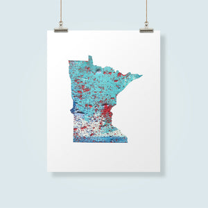 MINNESOTA State Map - Abstract City Map Art by Carland Cartography