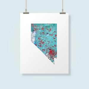 NEVADA State Map - Abstract City Map Art by Carland Cartography