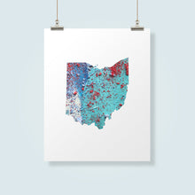 Load image into Gallery viewer, OHIO State Map - Abstract City Map Art by Carland Cartography