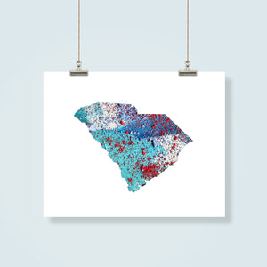 SOUTH CAROLINA State Map - Abstract City Map Art by Carland Cartography
