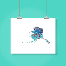 Load image into Gallery viewer, ALASKA State Map - Abstract City Map Art by Carland Cartography
