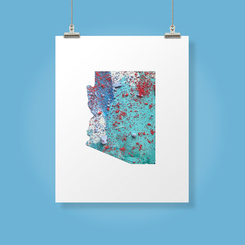 ARIZONA State Map - Abstract City Map Art by Carland Cartography
