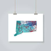 Load image into Gallery viewer, CONNECTICUT State Map - Abstract City Map Art by Carland Cartography