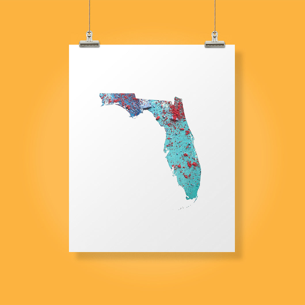 FLORIDA State Map - Abstract City Map Art by Carland Cartography