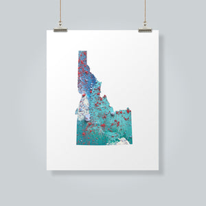 IDAHO State Map - Abstract City Map Art by Carland Cartography