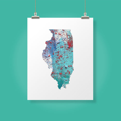 ILLINOIS State Map - Abstract City Map Art by Carland Cartography