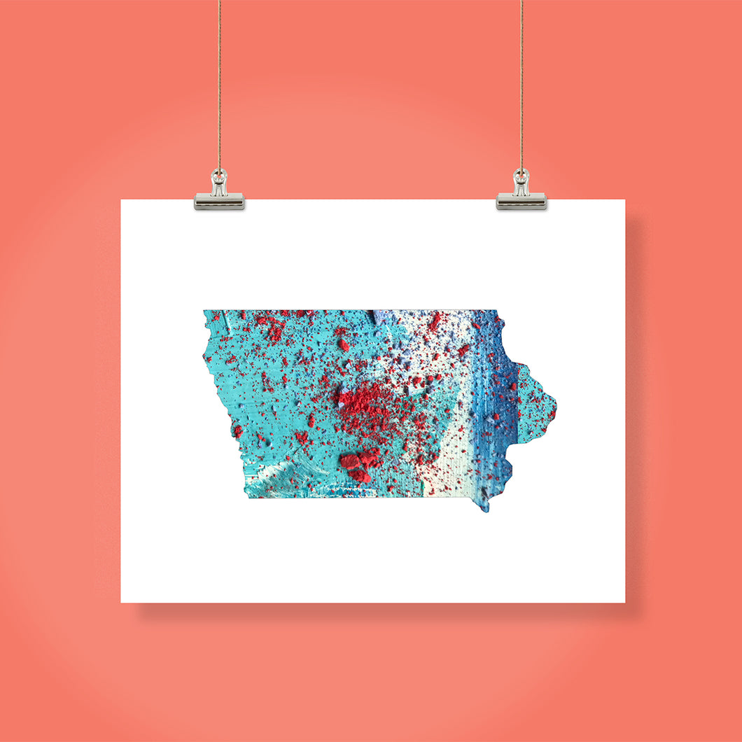 IOWA State Map - Abstract City Map Art by Carland Cartography