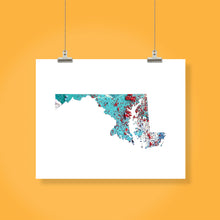Load image into Gallery viewer, MARYLAND State Map - Abstract City Map Art by Carland Cartography
