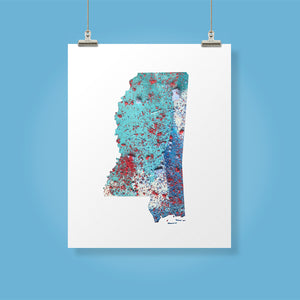 MISSISSIPPI State Map - Abstract City Map Art by Carland Cartography