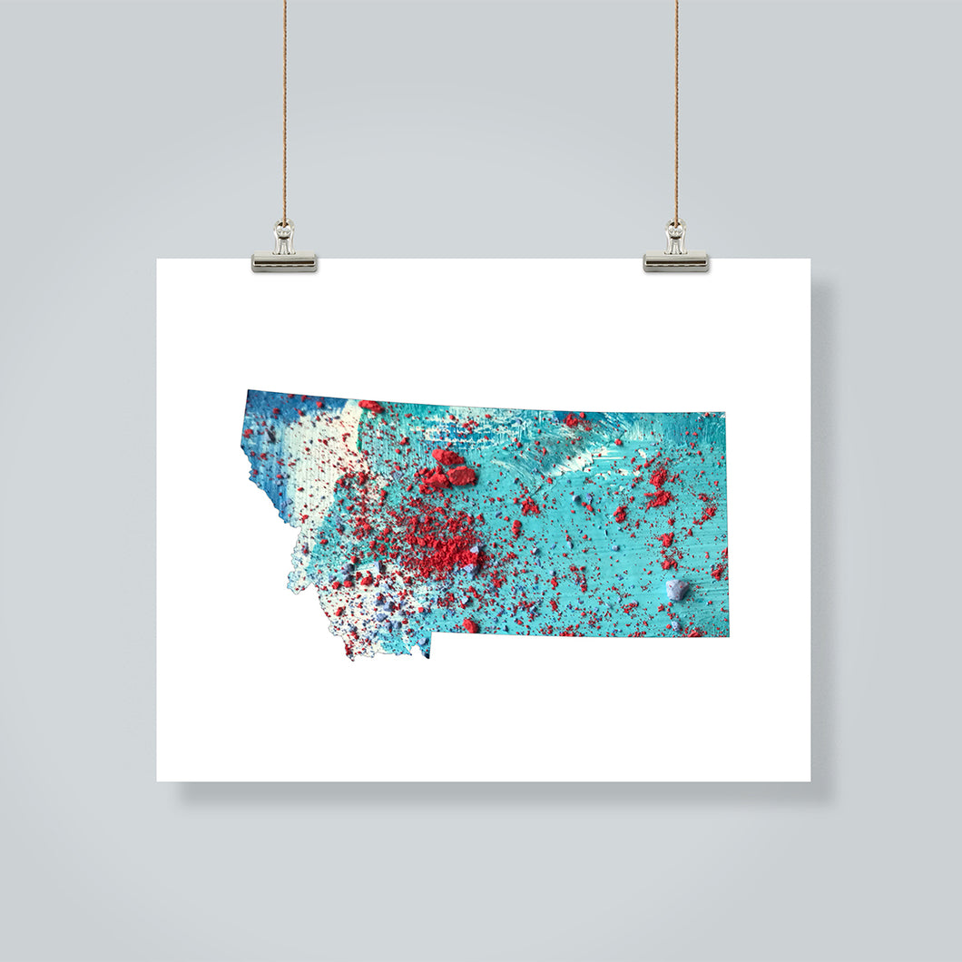MONTANA State Map - Abstract City Map Art by Carland Cartography