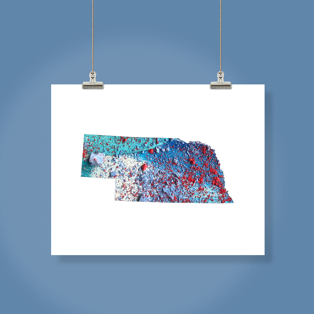 NEBRASKA State Map - Abstract City Map Art by Carland Cartography