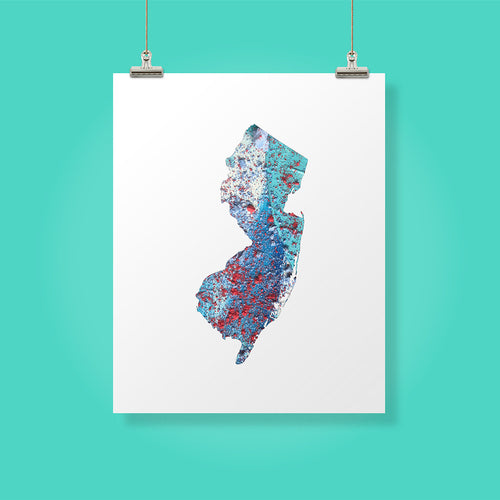NEW JERSEY State Map - Abstract City Map Art by Carland Cartography