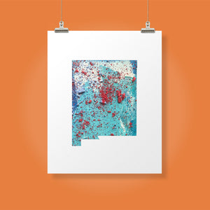NEW MEXICO State Map - Abstract City Map Art by Carland Cartography