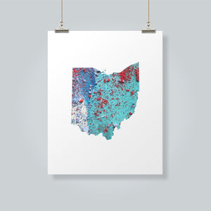 OHIO State Map - Abstract City Map Art by Carland Cartography