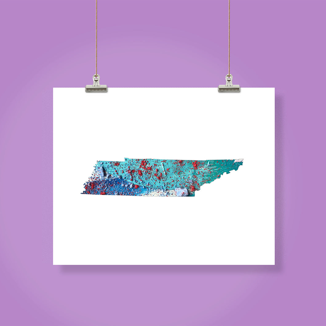 TENNESSEE State Map - Abstract City Map Art by Carland Cartography