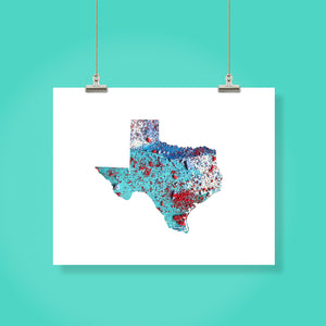 TEXAS State Map - Abstract City Map Art by Carland Cartography