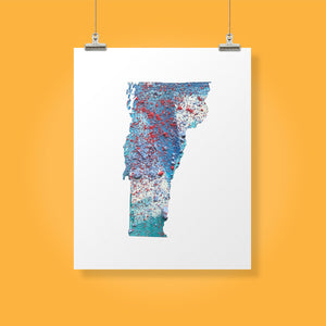 VERMONT State Map - Abstract City Map Art by Carland Cartography