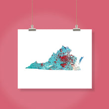 Load image into Gallery viewer, VIRGINIA State Map - Abstract City Map Art by Carland Cartography