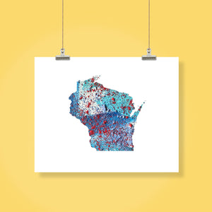 WISCONSIN State Map - Abstract City Map Art by Carland Cartography