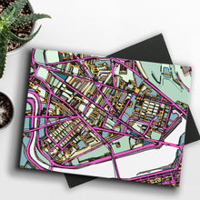 "Load image into Gallery viewer, Cambridge MA. 8x10"" Canvas Print - Abstract City Map Art by Carland Cartography"