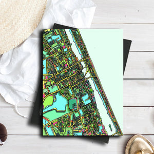 "Daytona Beach FL. 11x14"" Canvas Print - Abstract City Map Art by Carland Cartography"