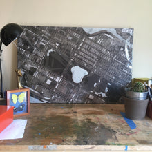 "Load image into Gallery viewer, Central Park, NYC. 20x30"" Canvas Print - Abstract City Map Art by Carland Cartography"
