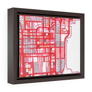 "Chicago Loop, Chicago IL. 5x7"" Framed Canvas Print - Abstract City Map Art by Carland Cartography"