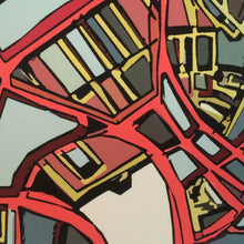 Load image into Gallery viewer, Boston North End - Abstract City Map Art by Carland Cartography