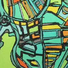 "Load image into Gallery viewer, Jamaica Plain, MA. 16x20"" Matted Print - Abstract City Map Art by Carland Cartography"