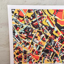 Load image into Gallery viewer, Somerville, MA (Orange) - Abstract City Map Art by Carland Cartography