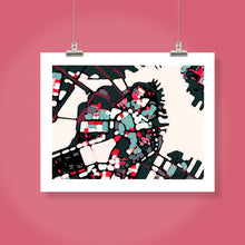 "Load image into Gallery viewer, Boston Harbor, MA. 16x20"" Matted Print - Abstract City Map Art by Carland Cartography"