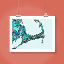 "Load image into Gallery viewer, Cape Cod, MA.  16x20"" Matted Print - Abstract City Map Art by Carland Cartography"