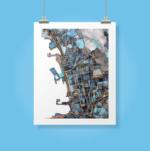 "Load image into Gallery viewer, Berkeley CA. 20x24"" Matted Print - Abstract City Map Art by Carland Cartography"