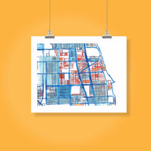 "Load image into Gallery viewer, Rogers Park, Chicago IL. Framed 8x10"" Print - Carland Cartography"