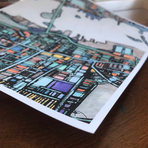 New Bedford, MA - Abstract City Map Art by Carland Cartography