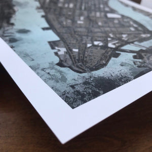 Manhattan, NYC - Abstract City Map Art by Carland Cartography