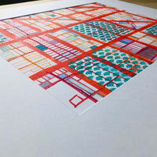 "Load image into Gallery viewer, Logan Square, Chicago (Orange). Original 16x20"" Drawing - Carland Cartography"