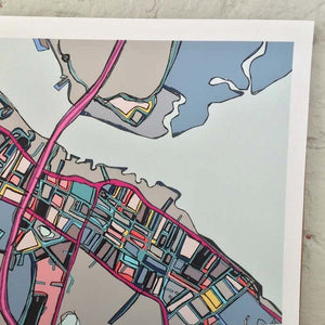 Newburyport, MA - Abstract City Map Art by Carland Cartography