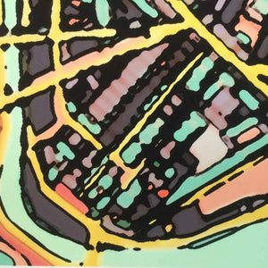 "Cambridge, MA (Green). 16x20"" Matted Print - Abstract City Map Art by Carland Cartography"