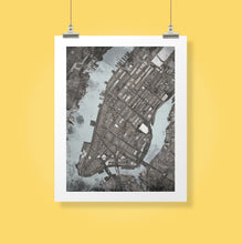 "Load image into Gallery viewer, Manhattan NYC. 20x24"" Matted Print - Abstract City Map Art by Carland Cartography"
