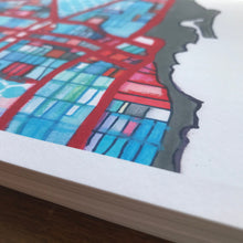 Load image into Gallery viewer, Evanston, IL (Gray) - Abstract City Map Art by Carland Cartography