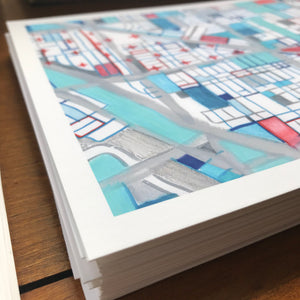 Wicker Park, Chicago - Abstract City Map Art by Carland Cartography