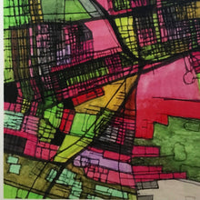 "Load image into Gallery viewer, Columbus OH. 20x24"" Matted Print - Abstract City Map Art by Carland Cartography"