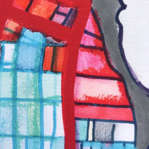 Evanston, IL (Gray) - Abstract City Map Art by Carland Cartography