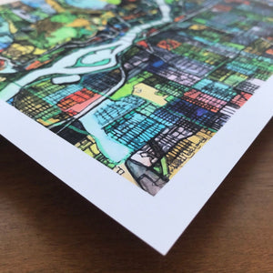 Portland, OR - Abstract City Map Art by Carland Cartography