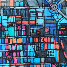 Load image into Gallery viewer, Long Beach, CA - Abstract City Map Art by Carland Cartography