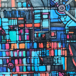 Long Beach, CA - Abstract City Map Art by Carland Cartography