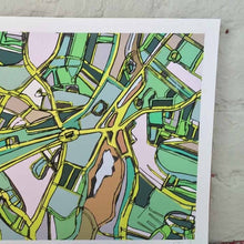 Load image into Gallery viewer, Brookline Village, Boston MA - Abstract City Map Art by Carland Cartography